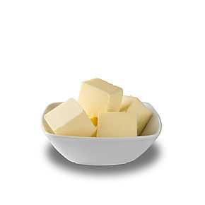 Butter with vanillin or carotene