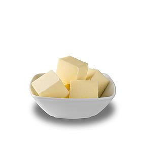 Butter mit Vanillin oder Carotin