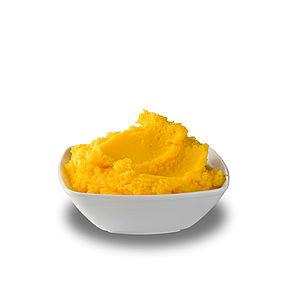 Butterfett mit Vanillin oder Carotin